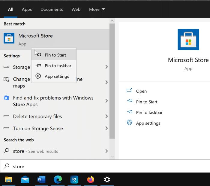 crear un acceso directo en el escritorio para la aplicación Store en Windows 10 pic1