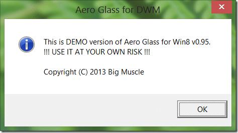 Desactivar u ocultar esta es la versión de demostración de la imagen de Aero Glass1
