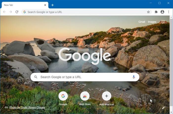 Desactivar la imagen de fondo de la nueva pestaña de Google Chrome pic01