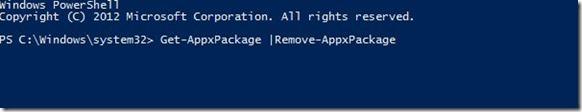 Desinstalar aplicaciones nativas de Windows 8
