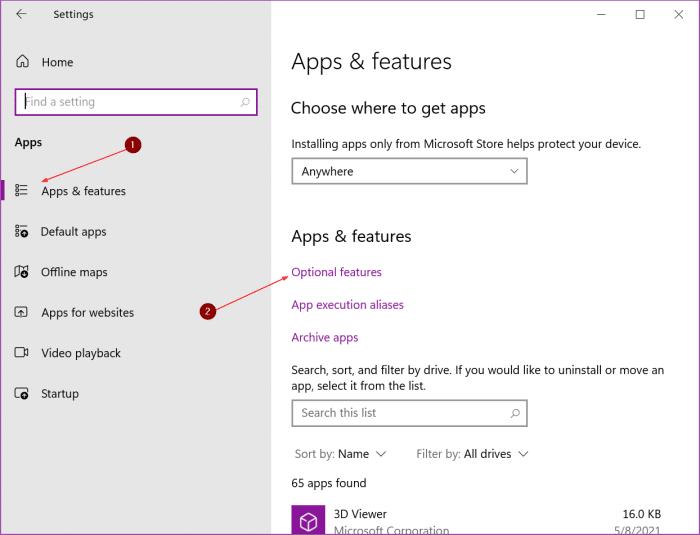 desinstalar Windows Media Player en Windows 10 pic1