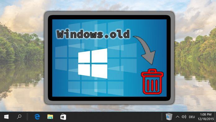 Cómo eliminar la carpeta Windows.old en Windows 10