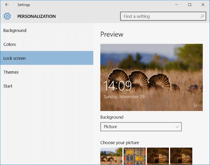 Fijar la configuración al menú de inicio y la barra de tareas en Windows 10