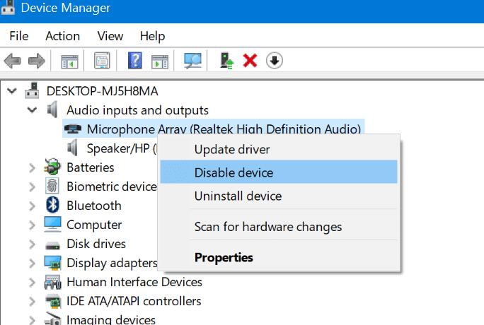 habilitar o deshabilitar el micrófono en Windows 10 pic1