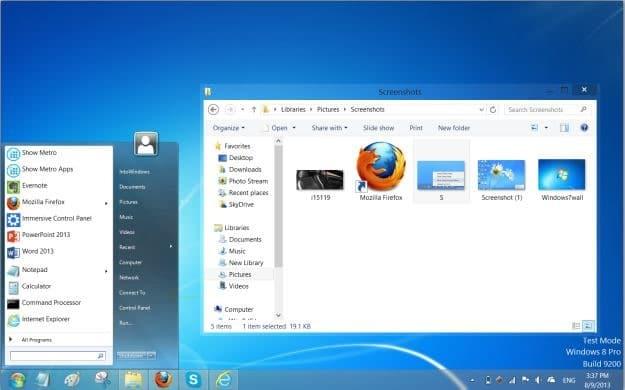 Hacer que Windows 8 se vea como la imagen de Windows 7