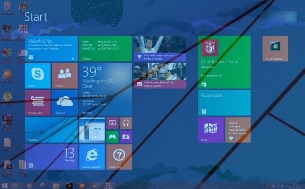 Hacer que la pantalla de inicio sea transparente en la imagen de Windows 8.11