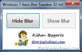 Cómo hacer transparente el borde de la ventana en Windows 7