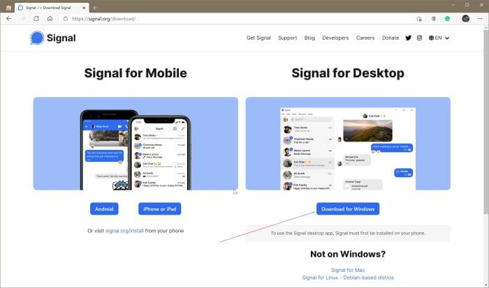 instalación de señal en Windows 10 pic02