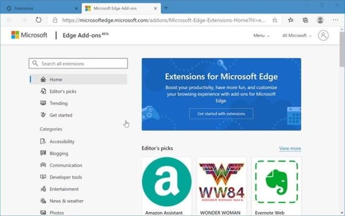 instalar y desinstalar temas en Microsoft Edge en Windows 10 pic3