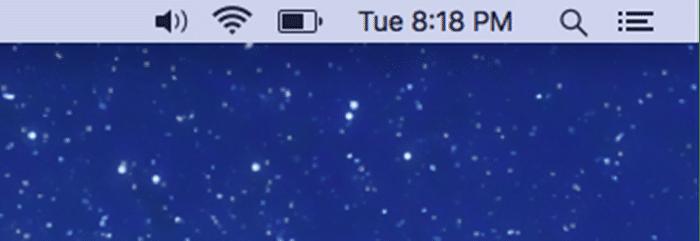 mostrar icono de volumen en la barra de menú de macos pic001