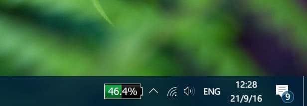 muestra el porcentaje de batería en la barra de tareas en Windows 10 pic2.1