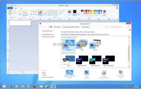 Establecer diferentes colores para la barra de tareas y el borde de la ventana en Windows 8 Paso 5
