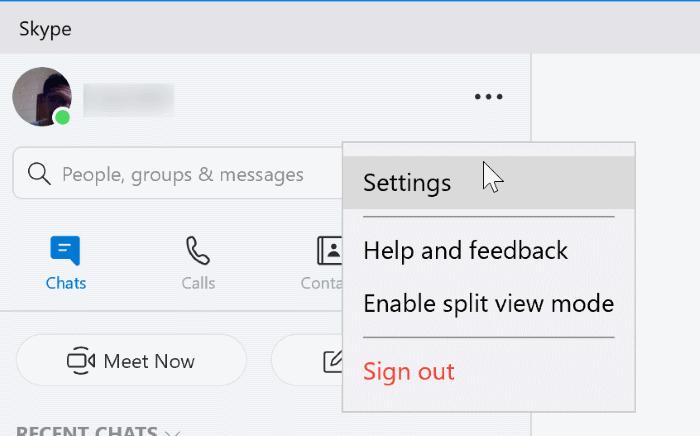 eliminar el icono de Skype de la barra de tareas o la bandeja del sistema en Windows 10