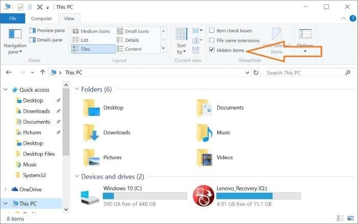 Reconstruir el caché de iconos de Windows 10 paso 1