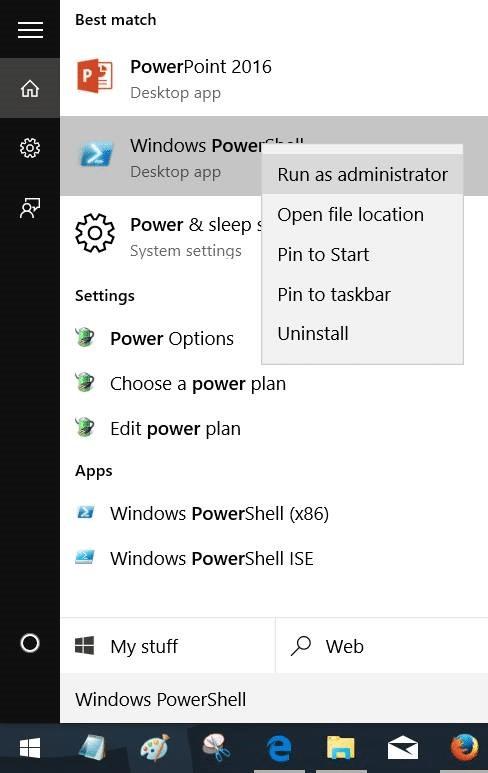 reinstalar la aplicación de fotos en Windows 10 paso 1