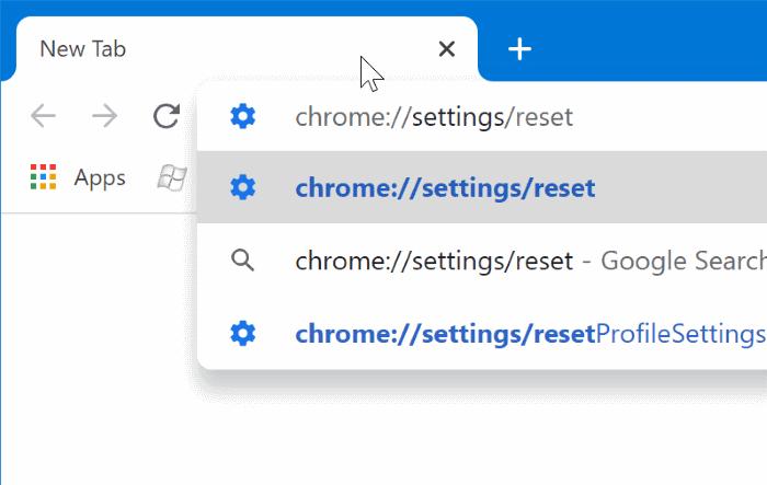 restablecer google chrome a la configuración predeterminada en Windows 10 pic1