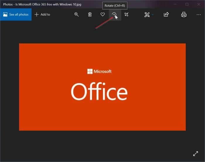 rotar imágenes en Windows 10