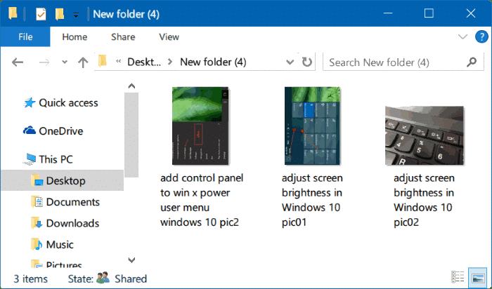 rotar imágenes en el explorador de archivos de Windows 10