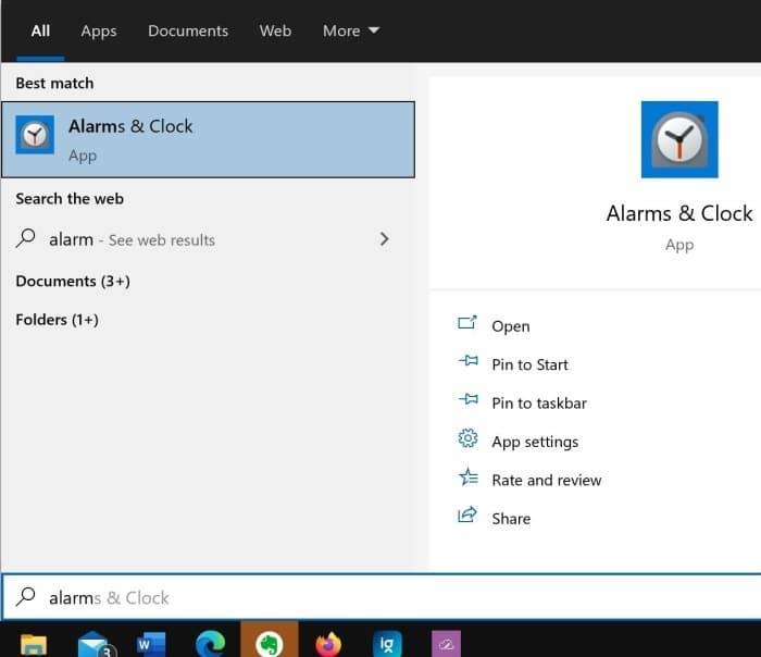 cómo usar alarmas en Windows 10 pic01