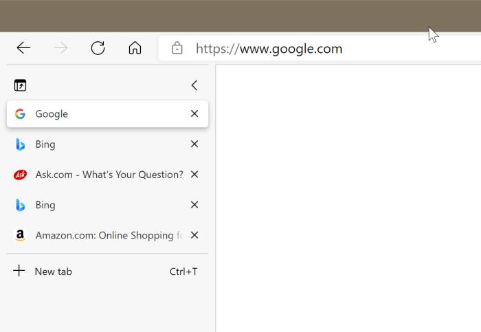 usando pestañas verticales en Microsoft Edge pic1
