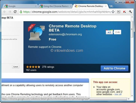 utilizar el escritorio remoto de Chrome step1