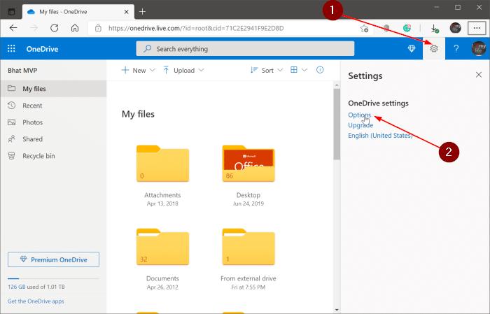 cómo ver archivos grandes en OneDrive pic1