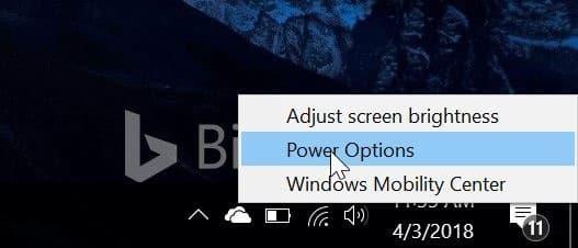evitar que la computadora portátil se inicie al abrir la tapa en windows 10 pic1