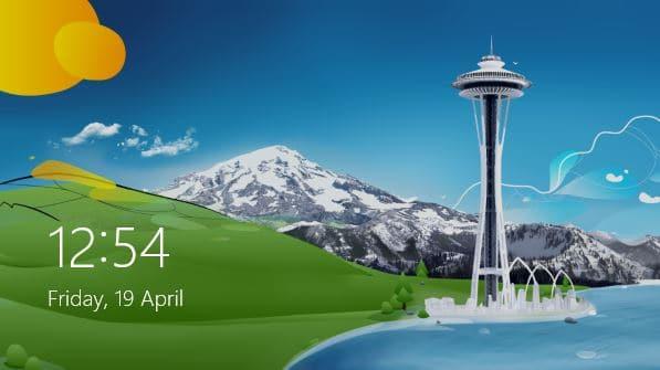 Fecha de estilo de Windows 8 y bloqueo en la pantalla de inicio de sesión de Windows 7