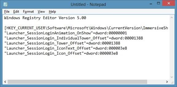 Habilitar la animación de la pantalla de inicio en Windows 8