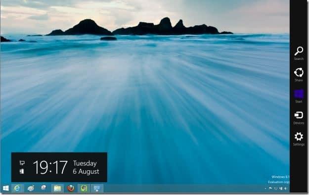 Deshabilitar la barra lateral en Windows 8.1