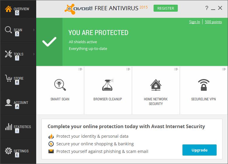 Avast Free para Windows 10