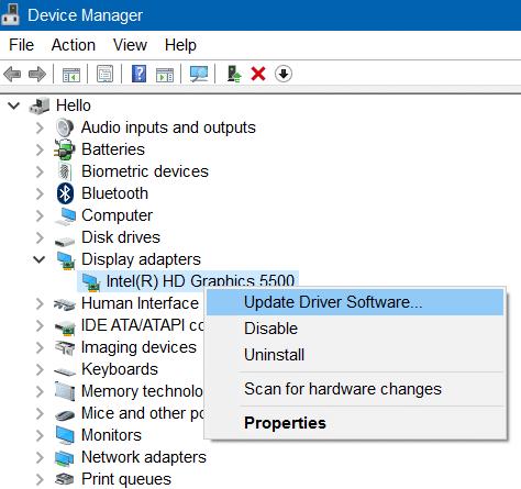 no se puede ajustar el brillo en Windows 10 paso 2