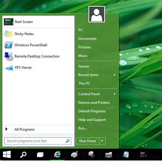 Use el menú Inicio antiguo y el nuevo juntos en Windows 10