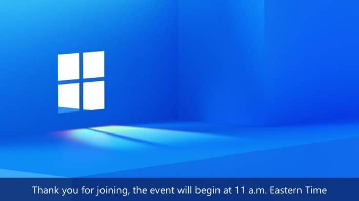 Vea el evento de Windows 11 aquí