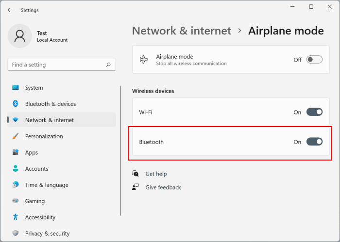 activar o desactivar bluetooth en Windows 11 pic5