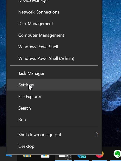abrir settinsg en Windows 10